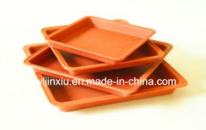 Plastic Terracotta Flowerpot Square Pot Saucers