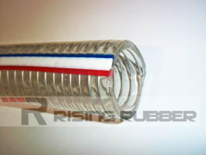 No Smell PVC Steel Wire Reinforced Hose pictures & photos