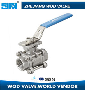 Stainless Steel DIN 3PCS Ball Valve with ISO5211 Mounting Pad pictures & photos