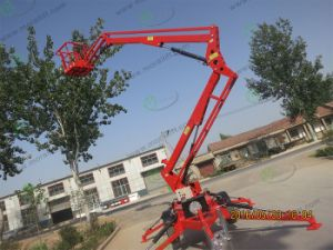 Portable Telescopic Boom Lift with CE pictures & photos