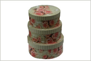New Design Round Paper Gift Box for Cake Packing