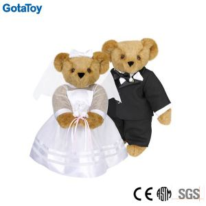 Custom Plush Toy Teddy Bear with Wedding Dressing Wedding Teddy Bears pictures & photos