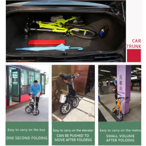 Alloy Frame City Folding Ebike 14inch Electric Bicycle for Europe Market pictures & photos