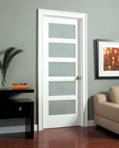 Swinging Solid Wooden Glass Panel Interior Doors New Design pictures & photos