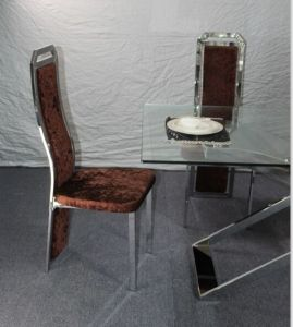 Modern Designed Hot Sale Dining Table with Stainless Steel and Glass pictures & photos