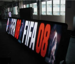 Full Color Outdoor Football Stadium LED Perimeter Display (P10, P6) pictures & photos