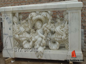 Natural Stone White Marble Outdoor Sculpture Railing/Baluster pictures & photos