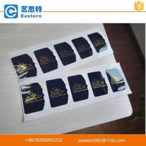 Custom Order Black Paper Die Cut Foil Gold Shiny Logo Sticker pictures & photos