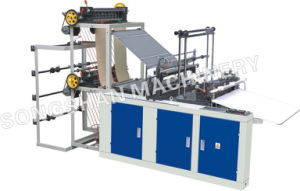 Double Layer Four Line Bag Making Machine (SHXJ-600F) pictures & photos