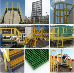 Fiberglass Handrail, FRP Pultruded Grating, FRP Structural Shapes pictures & photos