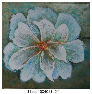 Framed Abstract Hand Made Chinese Style Peony Flower Oil Painting (LH-700572) pictures & photos
