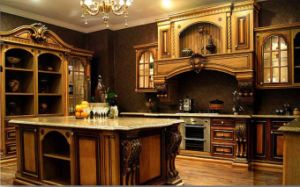 Classic Solid Wood Kitchen Cabinet (EJV-SLD9869C)