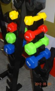 Tz-3001 Rubber Hex Dumbbell/Hot Sale Fitness Accessories with Wholes Price pictures & photos