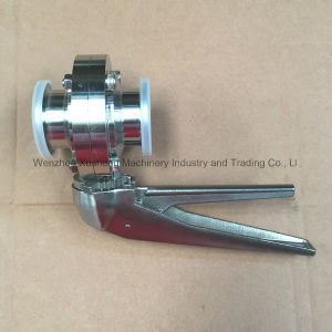 2inch Stainless Steel Ss304 Manual Tri Clamping Butterfly Valves pictures & photos