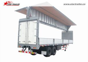 3axles Van Open Wing Box Semi Trailer pictures & photos