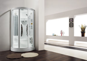 Monalisa Fan Shaped Sector Steam Shower Sauna Room Computer Room with Foot Massage Shower Panel pictures & photos