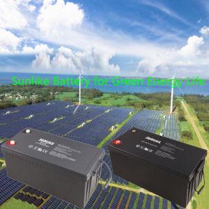 Solar Panel 12V200ah Sealed Lead-Acid Deep Cycle Solar Power Battery pictures & photos