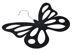Velvet Butterfly Flocked Hanger