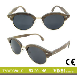 Fashion Wooden Sunglasees with High Quality (591-B) pictures & photos