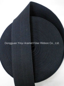 50mm Black Aramid Fiber Webbing for Industry pictures & photos
