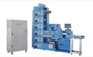 HSR320 6 Colors UV Flexo Printing Machine with Double Rotary Die Cutting