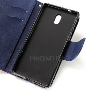 Mixed Color PU Leather Flip Phone Case for Nokia 3 pictures & photos