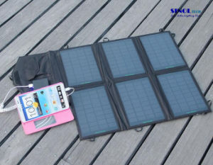 28W DC and USB Dual Output Foldable Solar Panel Charger for iPad, PDA, Cell Phone, Video Camera Outdoor Charging Device (FSC-28B) pictures & photos