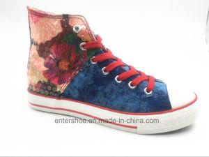 High Cut Canvas Women Fashion Shoes with Shoelaces (ET-YH160337W) pictures & photos