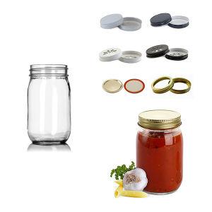 4oz 8oz 16 Oz Mason Jar with Screw Lid Factory for Sale