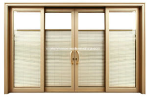 New Window Curtain with Built in Blind Motorized in Double Hollow Glass pictures & photos