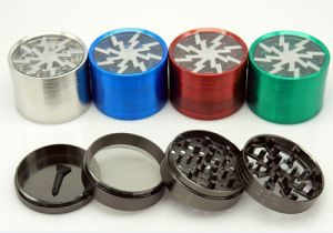 Bontek Hot-Selling 4 Parts Aluminum Herb Grinder for Tobacco Use pictures & photos