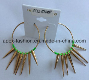 Woven Gold Plated Pierced Earrings Fashion Jewelry Gold pictures & photos