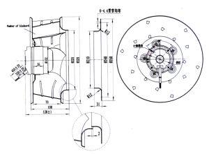 320mm Diameter X 140mm AC Centrifugal Ventilation Fan pictures & photos