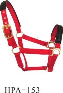 Horse Webbing Red Bridle Headstall Halter pictures & photos