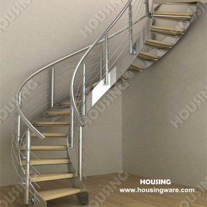 Curved Staircase / Stair for Small Space (HS-C01)