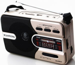 Portable Radio with USB/SD and Rechargeable Battery (HN-1018UAR)
