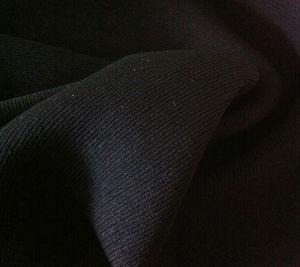 Formal Black Maliky Moss Crepe Marvijet for Arabic Abaya, Burqa