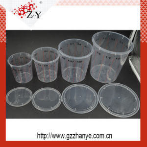 High Quality Logo Printed PP Plastic Transparent Paint Mixing Cup pictures & photos