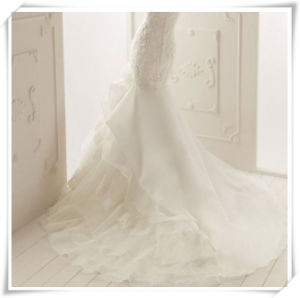 White Pure Silk Organza Fabrics for Wedding Dress pictures & photos