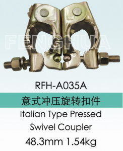 Italian Type Pressed Swivel Coupler (RFH-A035A) pictures & photos
