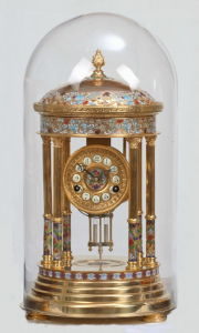 Bronze Mechanical Clock With Cloisonne and Glass Cover (S1003A) pictures & photos