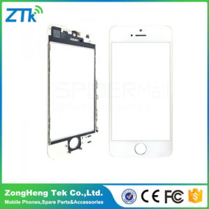 White Phone Parts Front Glass with Frame for iPhone 5s pictures & photos