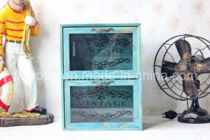 Antique Vintage French Style Customized Painted Wooden Cupboard Box pictures & photos