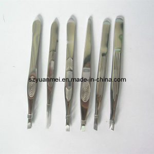 Stainless Steel Eyebrow Tweezers (YMET23)