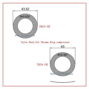 Thermo King Compressor Valve Reeds
