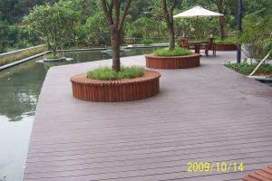 Outside Environmental Friendly Waterproof WPC Decking (WPC decking) pictures & photos