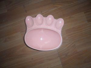 Cute Pet Bowl Plastic Feeding Food Bowl