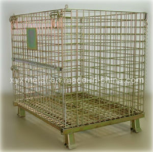 Euro Style Stackable Galvanized Metal Wire Cage Container pictures & photos