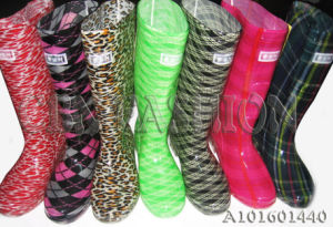 Fashion Fabric Lining Women Rain Boots Shoes A101601440