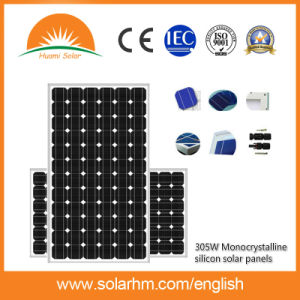 (HM305M-72-1) 305W Mono-Crystalline Solar Panel for on-Grid Solar System pictures & photos